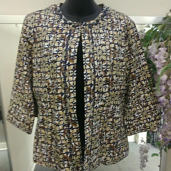 Joni B Jackets & Blazers - VTG- Joni B Printed Cardigan Jacket